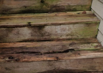 Rotted stair treads